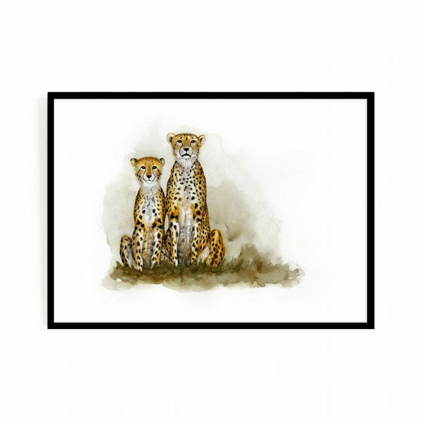 Mom and daughter (cheetahs)